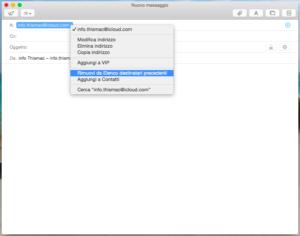 thismac-eliminare indirizzo mail suggerito da mail mac