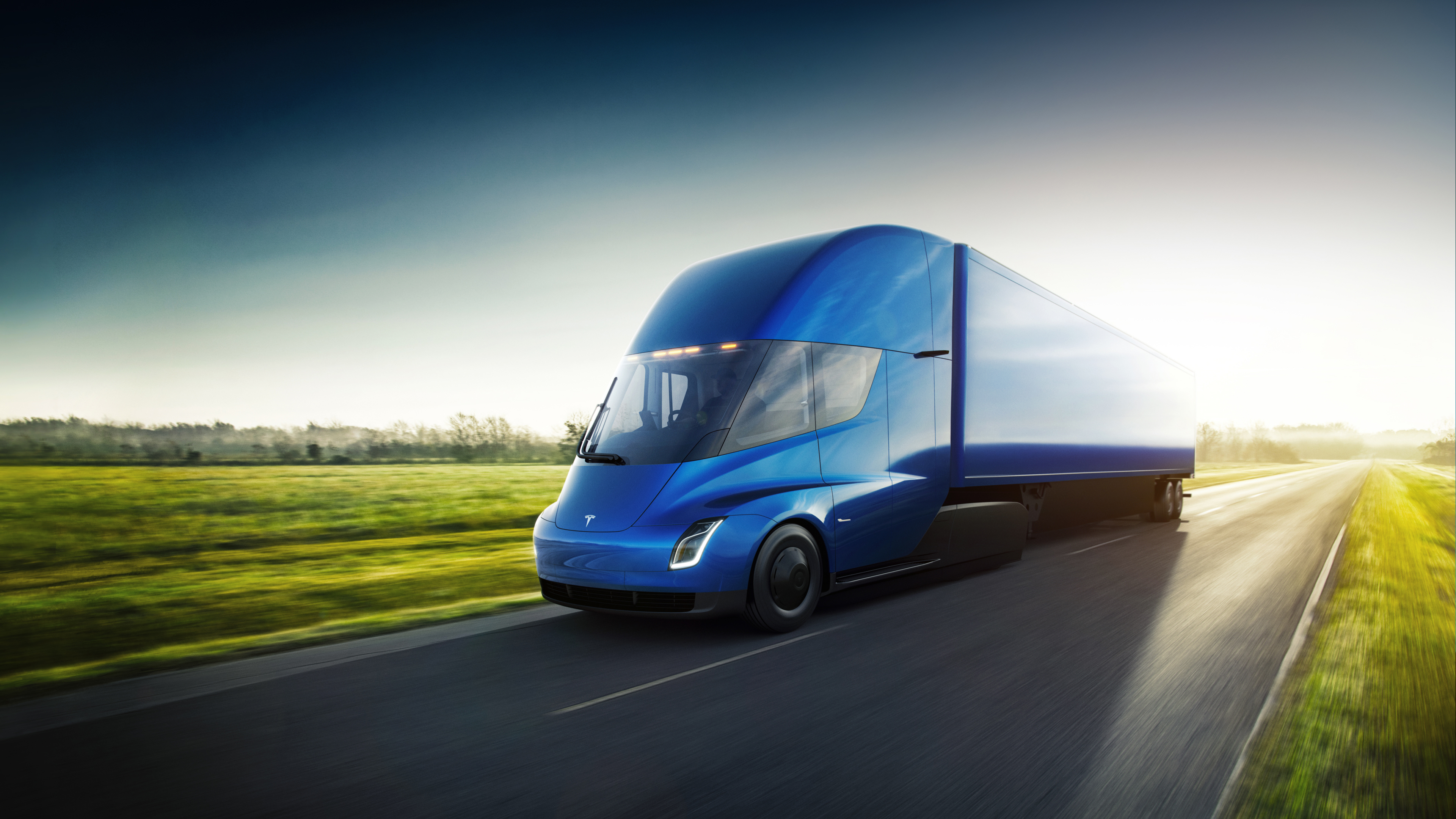 Tesla Semi Blue