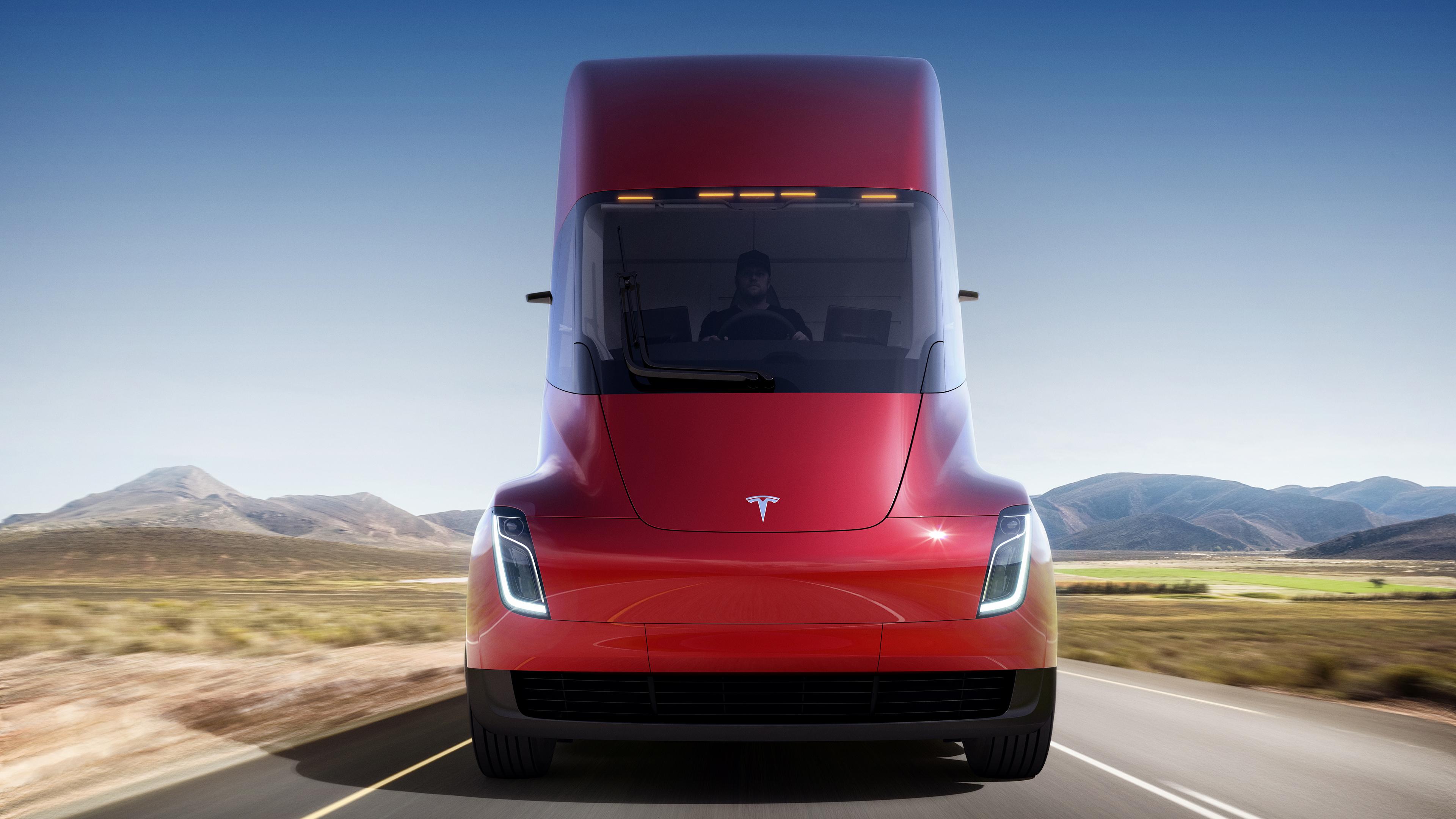 Tesla Semi rosso