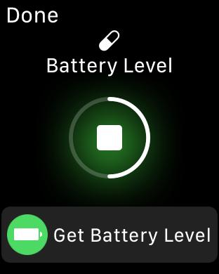 schermata di run Battery Level