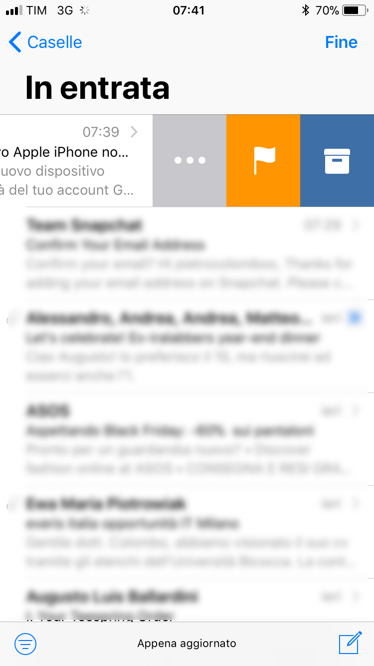 Mail iPhone Gmail archivia le mail