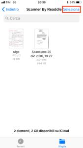 Seleziona file
