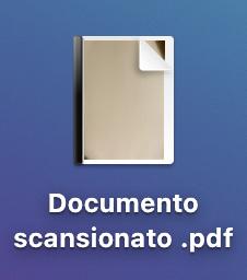 documento scansionato