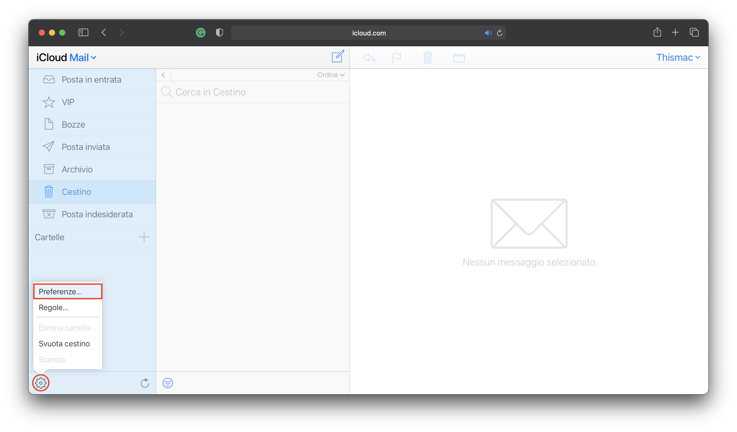 mail iCloud