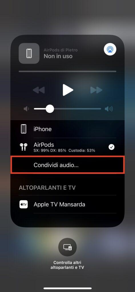 Condividi audio...